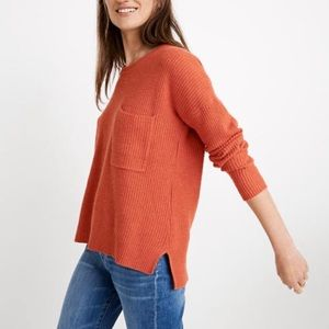 Madewell Thompson One Pocket Knit Sweater XS